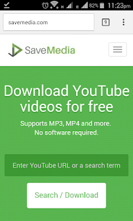 Savemedia website homepage allows you to download YouTube videos