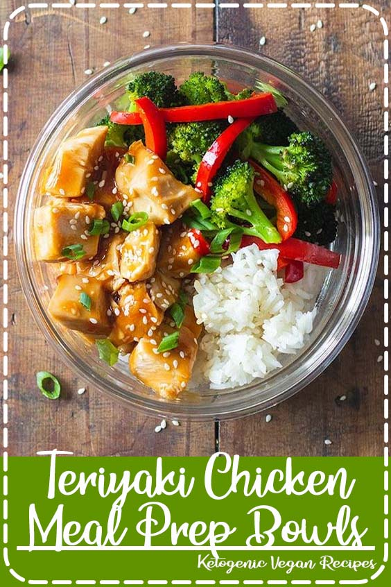 Super easy to prep Teriyaki Chicken made in the panggangan and transformed into meal prep bowls Teriyaki Chicken Meal Prep Bowls