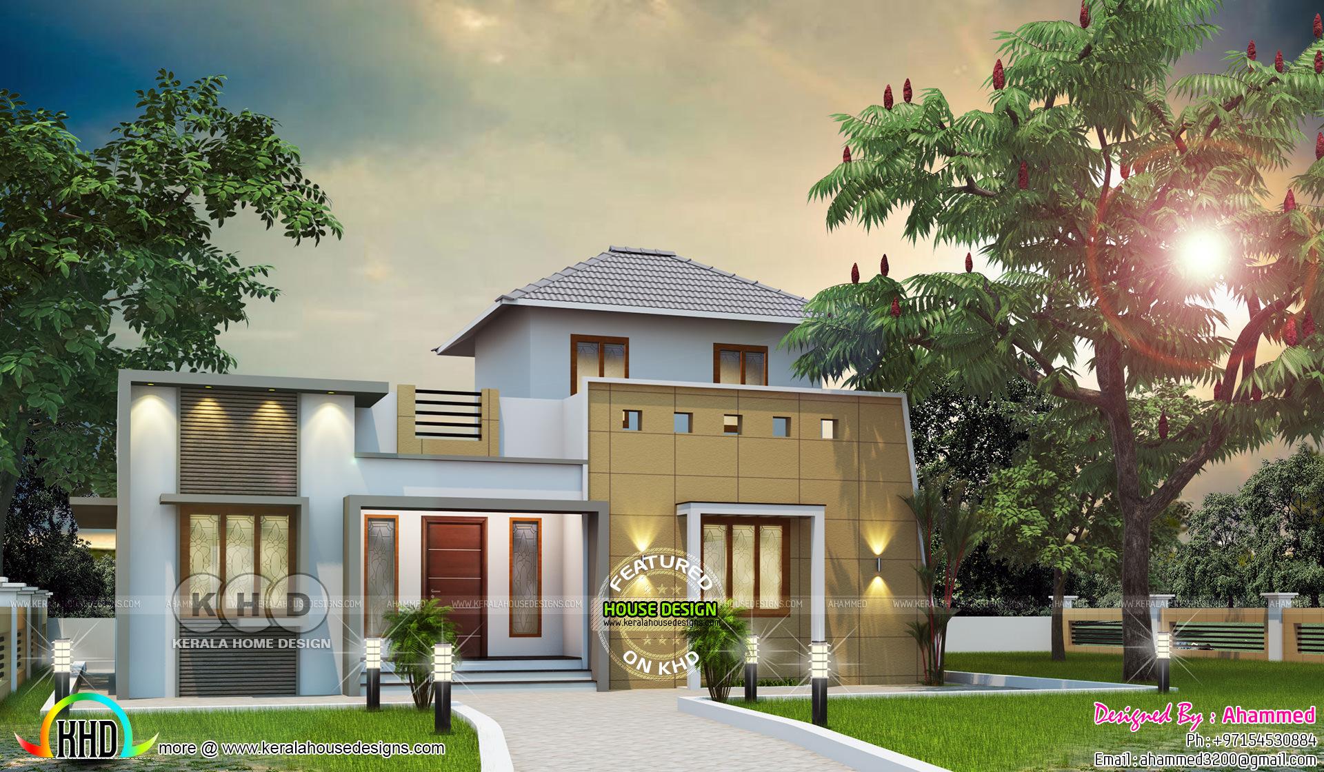 5 bedroom modern house in 1430 square feet | Kerala home ...