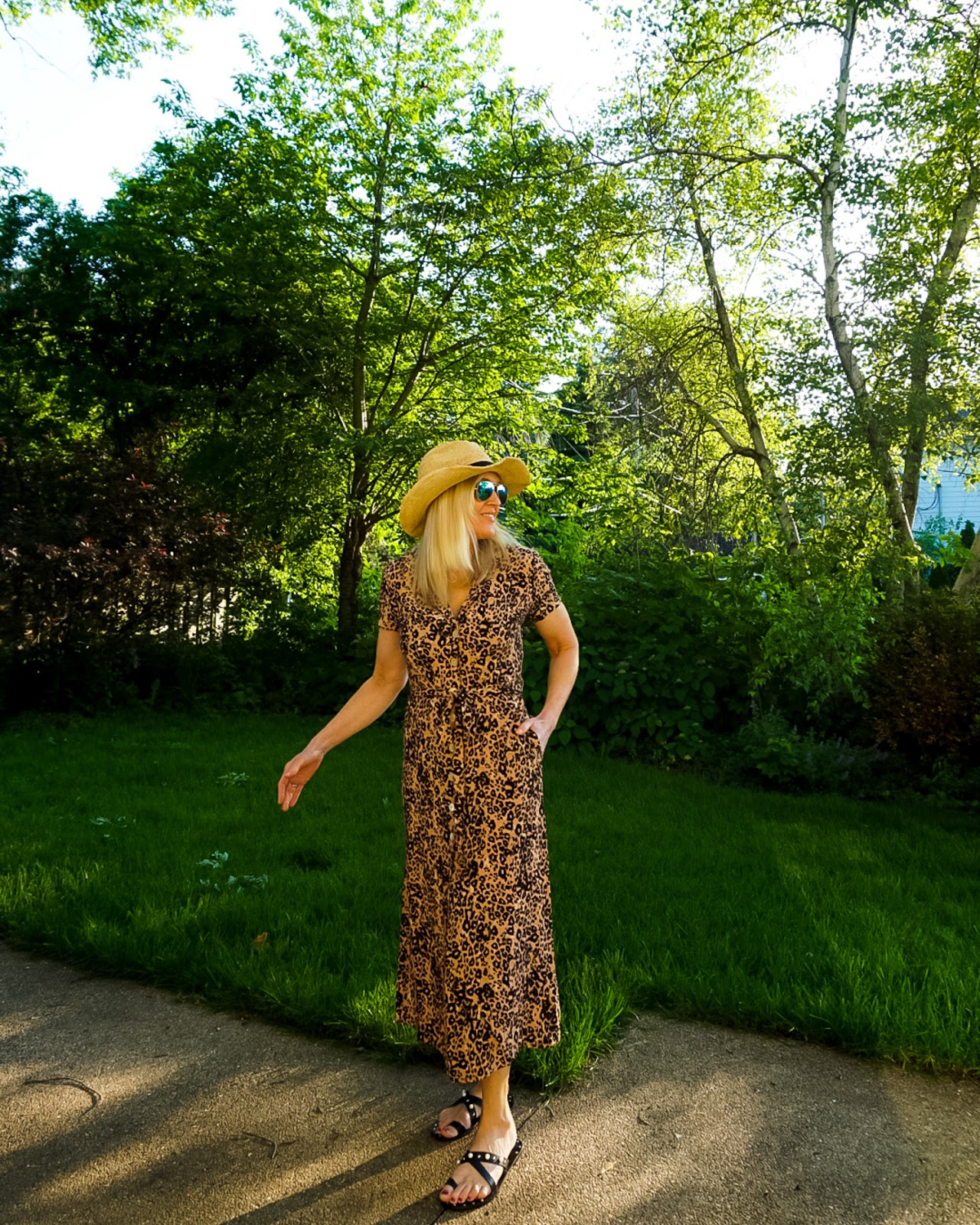 What to wear with a leopard print dress