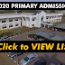 UNN 2019/2020 Primary Admission list