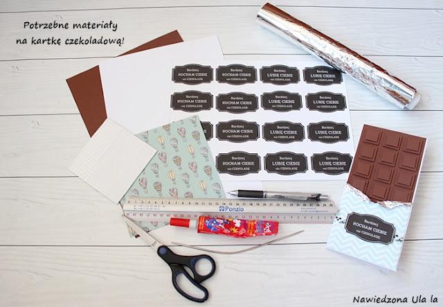 jak zrobić kartkę w formie czekolady