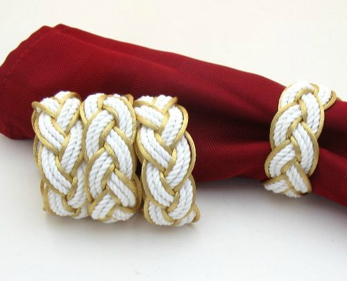 Gold Nautical Knot Napkin Rings