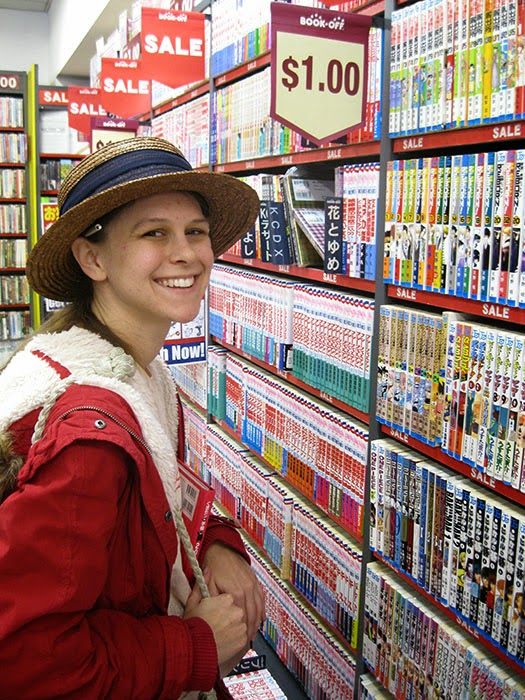 Book Off & Book Off Bazaar, rows of manga.