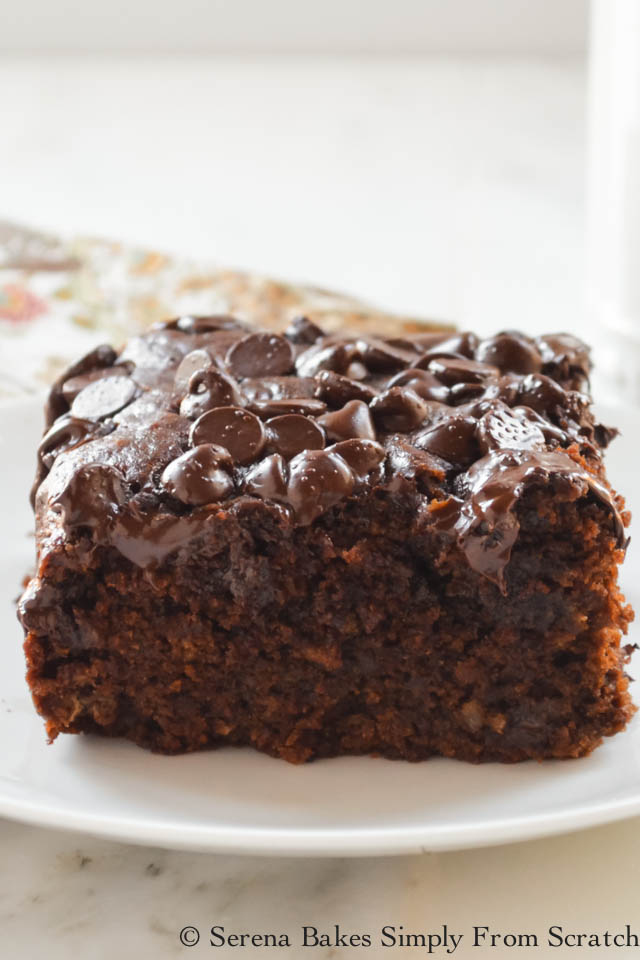 Eggless Chocolate Banana Cake recipe is the most delicious moist chocolate cake and super easy to make from Serena Bakes Simply From Scratch.