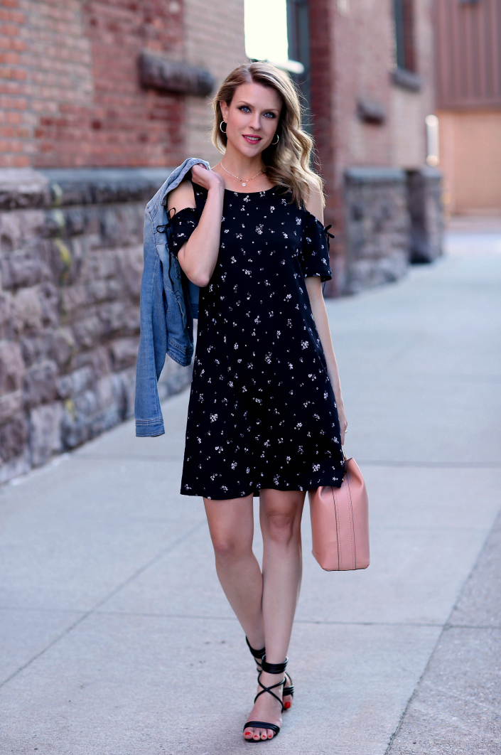 344b17950516f9 The breezy, lightweight fabric of this cold-shoulder dress will be ideal  for those hot summer days when I want to throw on one piece & instantly  look ...
