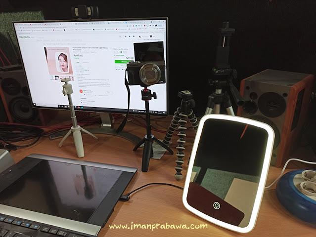 Cermin Make Up Lampu Xiaomi