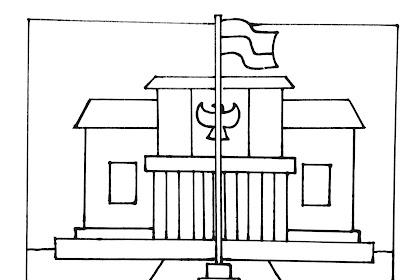 Contoh Gambar Mewarnai Gambar Istana Presiden Kataucap