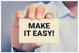 hand with make it easy sign