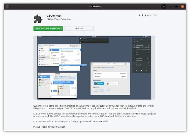 Installare GSConnect su Ubuntu