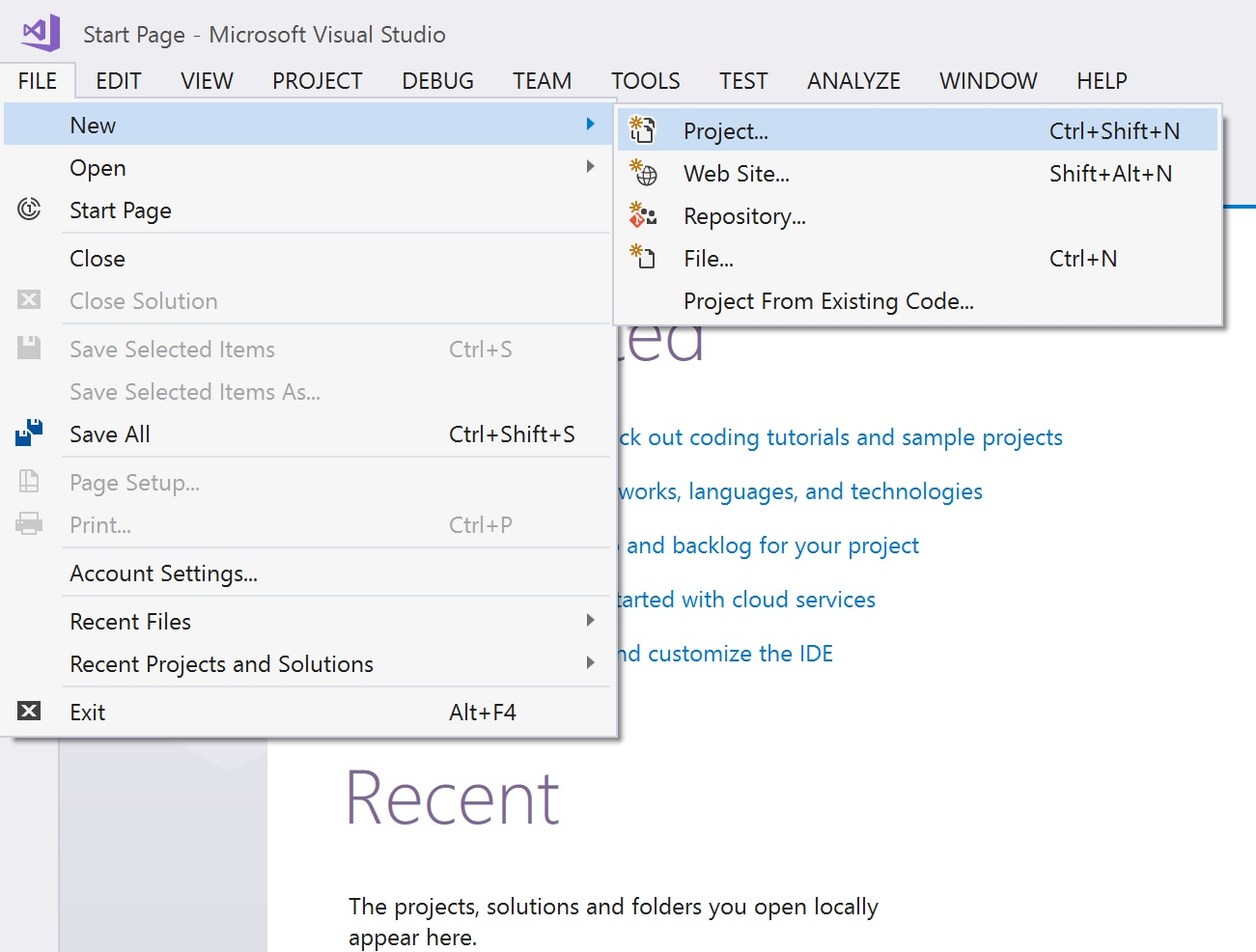 how to create new database in sql server
