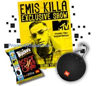 Logo Wacko's MTV e JBL : vinci 1089 casse JBL e 30 concerti Emis Killa