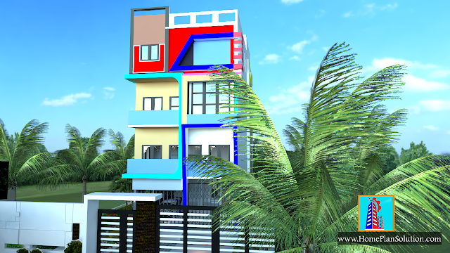 25 x 62 Ft.Front Elevation | 3D Elevation | 2bhk house plan (17.5m X 18.8m )plot House Design | Ghar Ka Naksha | House Plan Idea