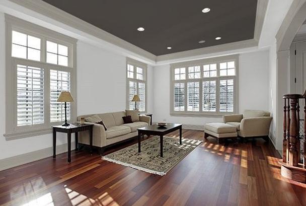 Kombinasi Warna Cat Ruang Tamu Dengan Plafon Yang Elegan Terbaru