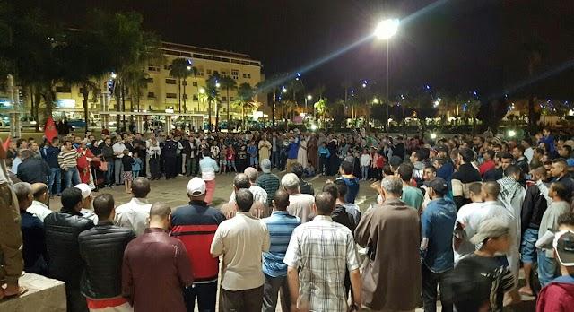 وقفة سلمية ناجحة لهيئات برشيدية متضامنة مع حراك إخواننا في الريف المغربي