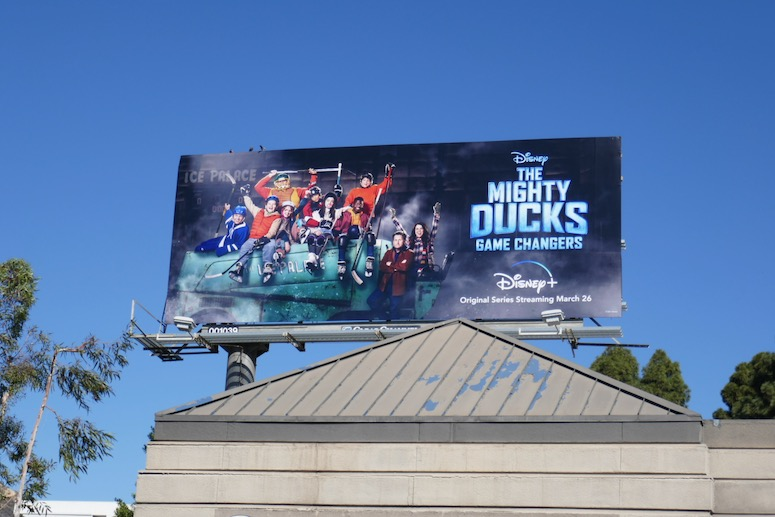 Mighty Ducks 2021 TV series billboard