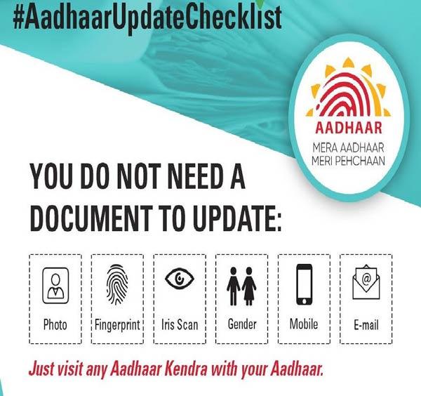 Aadhaar Update Checklist