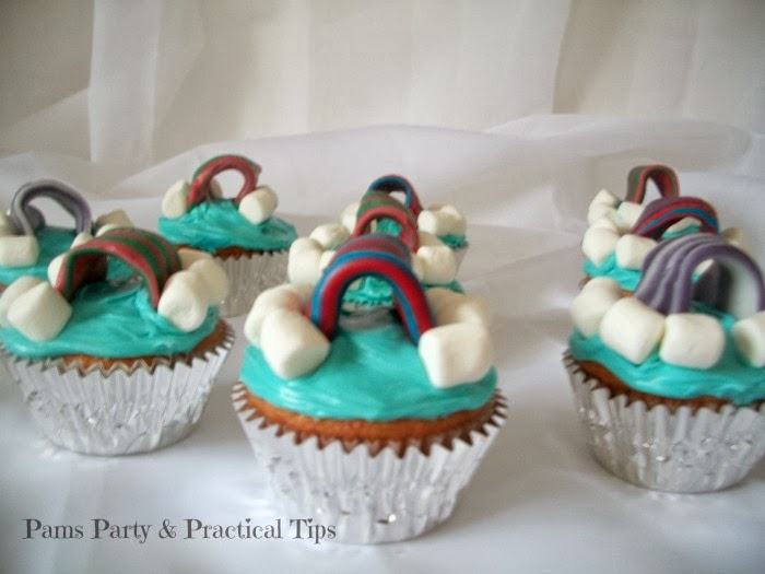 Lego Movie Cloud Cukooland Cupcakes by Pams Party and Practical Tips