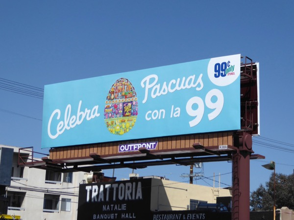 Celebra Pascuas 99c Only Easter egg billboard