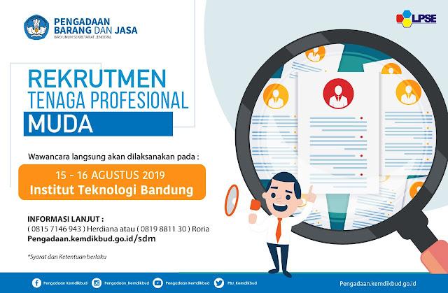 Rekrutmen Tenaga Profesional Muda untuk Bergabung di Kemendikbud