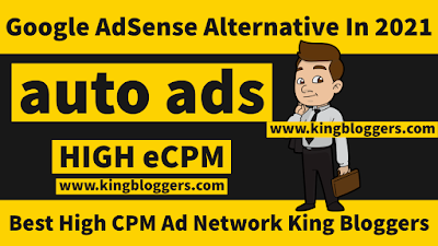 Best High CPM Ad Network King Bloggers