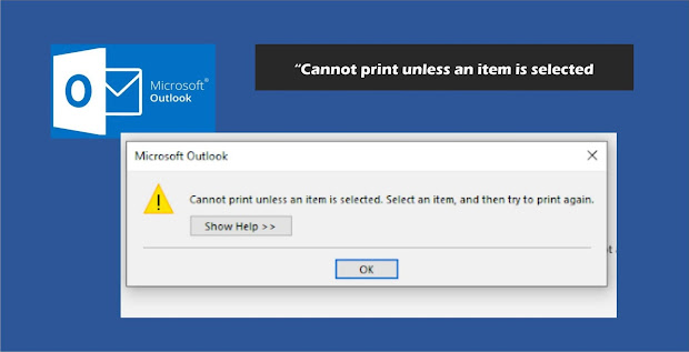"Cara Mengatasi Error Saat Print di Microsoft Oulook ""Cannot print unless an item is selected. Select an item , and try to print again."""