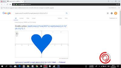 Nantinya dengan kordinat yang kalian copy tadi akan muncul sebuah bentu Love atau Hati berwarna biru