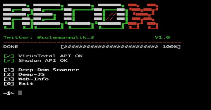 Recox : Master Script For Web Reconnaissance