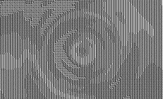 同心円状に描かれたノイズ作品