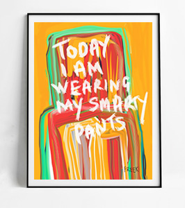 expressionist art, buy art, art prints, drawing, illustration, artist, artwork, art, sam freek, today I am wearing my smarty pants, online gallery, A5 art,