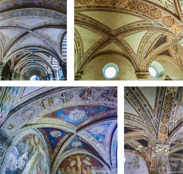 Afrescos do Claustro Verde da Basílica de Santa Maria Novella, em Florença