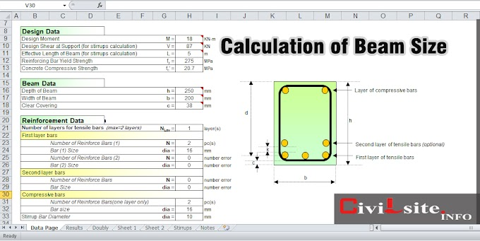 Reinforced Concrete Beam Module - Calculation of Beam Size