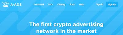 A-Ads est la régie publicitaire qui propose un vaste choix de cryptomonnaies et garantit l'anonymat