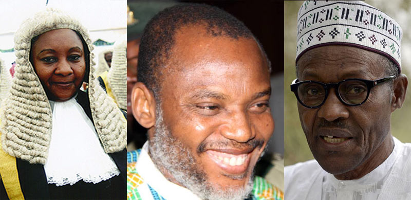 New judge assigned to Nnamdi Kanu's case is Buhari's sister - IPOB