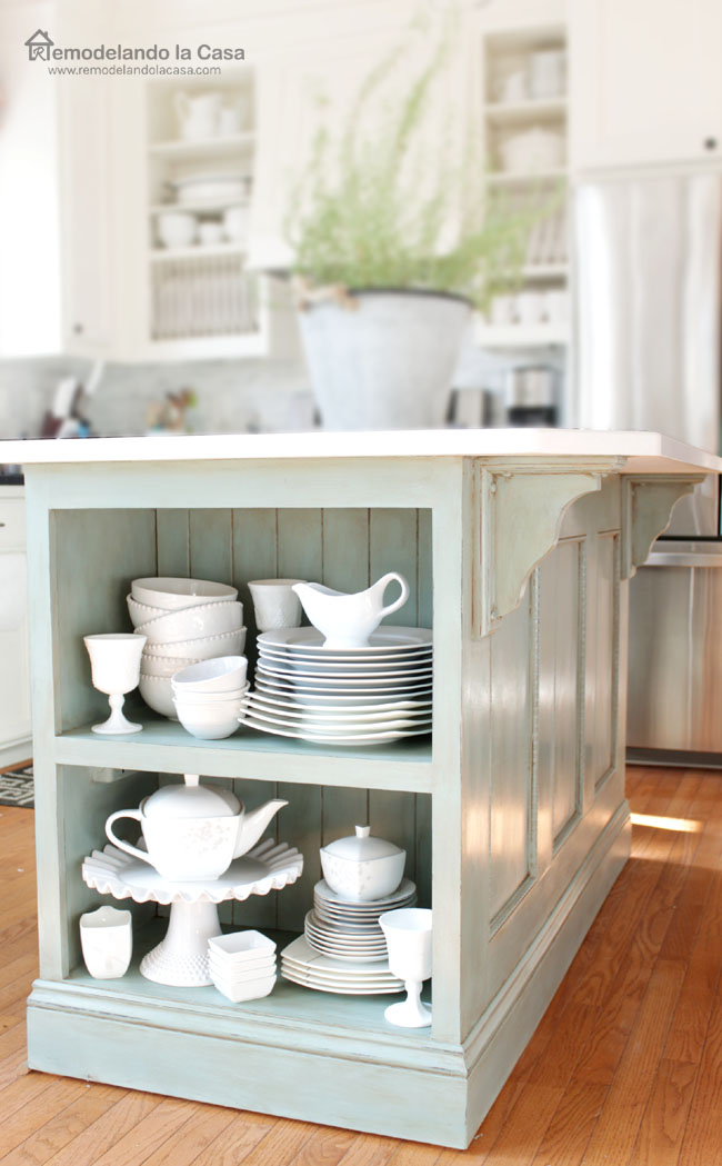 how to refinish kitchen island