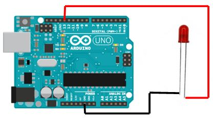 Menghidupkan dan Mematikan LED arduino