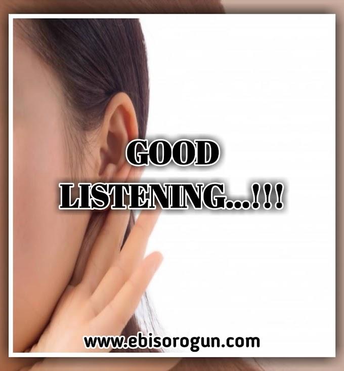 5 BENEFITS OF GOOD LISTENING.