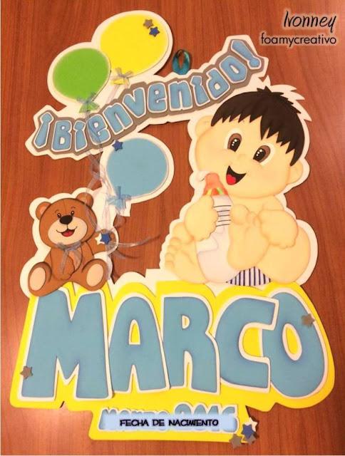 cartel letrero niño foami foamycreativo