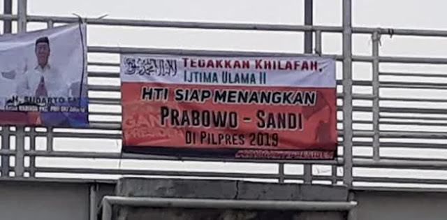 Gerindra: Spanduk HTI Dukung Prabowo-Sandi Fitnah!