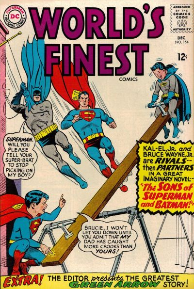 Episode #390 Part IV: Superman Family Comic Book Cover Dated December 1965: World's Finest Comics #154!