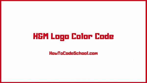 H&M Logo Color Code
