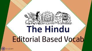 The Hindu Vocab 04 September 2018