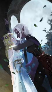 The Dark Elf Salvia threatens to slit Zoya's throat with a dagger