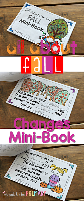 fall lesson plans - changes mini book