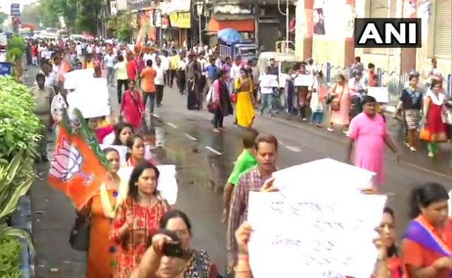 भाटपाड़ा हिंसा के खिलाफ सड़क पर उतरी भाजपा, सीबीआई जांच की मांग