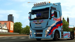 Russia paint job for MAN TGX Euro 6