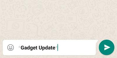 Cara Membuat Tulisan Tebal, Miring, Terbalik, Berwarna di WhatsApp
