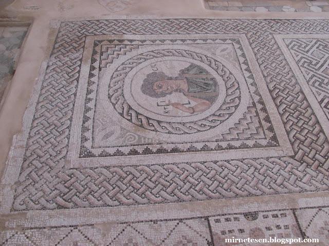 Курион - изображение Кстисис на мозаике в Доме Эустолиуса