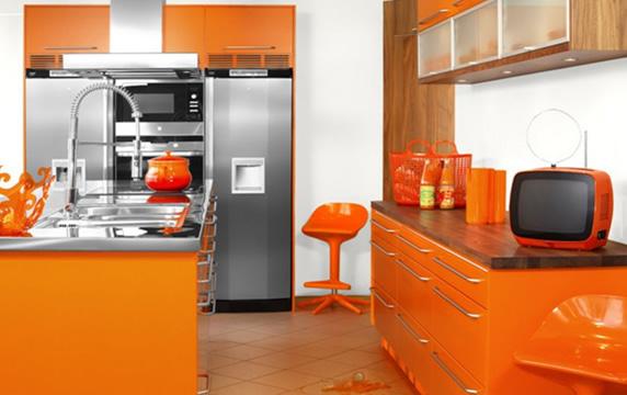 مطاااااااابخ العصرية orange-modern-kitche