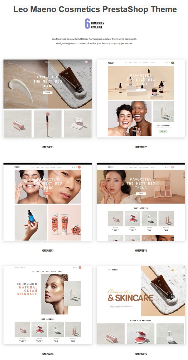 Beauty and Cosmetics Prestashop Theme